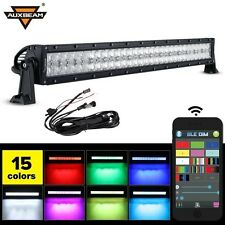 "Auxbeam V-Series LED Light Bar 32"" 180W Combo Straight RGB Strobe Controlled 5D"