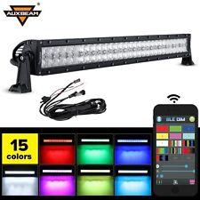 "Auxbeam V-Series LED Light Bar 32"" 180W Combo Straight RGB Strobe Controlled 5D"