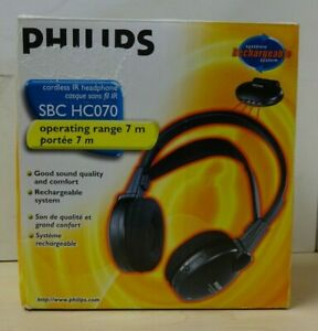Philips Rechargeable Cordless IR Headphones  NEW  E31