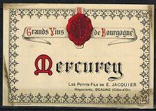 Etiquette de Vin - Bourgogne - Mercurey - E.Jacquier - Réf.n°69