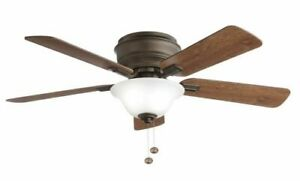 NEW HAMPTON BAY Hawkins 44 in. LED Oil Rubbed Bronze Ceiling Fan with Light