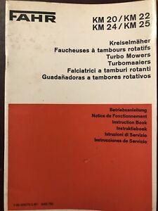 Fahr Km Mowers Instruction Book