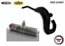 FITS KAWASAKI KDX125 KDX 125 1990-2003 BLACK BIG ONE EXHAUST SYSTEM + GASKET