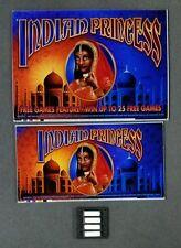 Aristocrat MK6 Slot Machine INDIAN PRINCESS Glass Set w/ Software