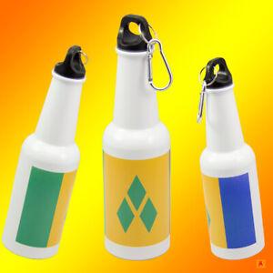 St.Vincent & the Grenadines flag water/Beer bottle