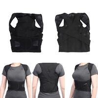Adjustable Magnetic Posture Support Corrector Back Pain Belt Brace Shoulder RM