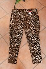 MAGNA Stretch Hose 48 50 NEU Leo Tiger Animal Print braun massiv weich LAGENLOOK