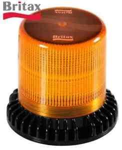 BRITAX BF300-00 LED Flange Base - Rotating Warning Beacon Light Strobe