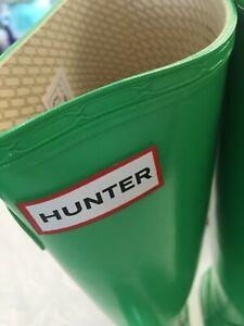 HUNTER Gummistiefel Stiefel Gr. 38 grün Schuhe Regen Geschenk