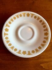 "Set 8 CORELLE LIVINGWARE 6-1/4"" Bread Salad Dessert GOLD BUTTERFLY USA Vintage"