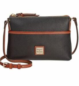 Dooney & Bourke 'Ginger' Leather Crossbody Pouchette - Black