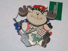 "Commodore Wooden Ornament - NEW - Moose ""Jingle Bells"""