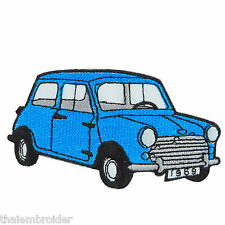 Blue Mini Cooper Austin Classic Cars Racing Embroidered Iron on Patches #MC005