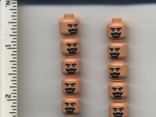 Indiana Jones LEGO x 10 Minifig, Head Beard Black Van Dyke with Black Moustache
