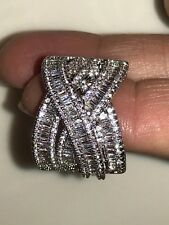 Zirconia and Baguette Cuts Size 8-New Women's Fashion White Ring made with Cubic