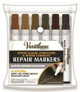 Quickly Repairs Scratches Wood Stain Touch-Up Marker Kit ( 6 colors ) Varathane