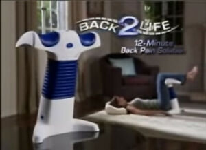 Back 2 Life Continuous Motion Therapeutic Massager B2L Pain Relief With Manual