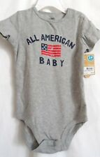 BOYS 24 MONTH GRAY AMERICAN BABY CREEPER BODYSUIT CRAWLER NWT~  CARTER'S