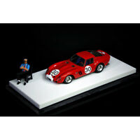 JEC 1:64 Ferrari 250GTO #30 Red Racing Car Model Collection Limited w/Doll NEW