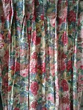 More details for sanderson rose & peony lined curtains [john lewis] pair-pleated w35.5