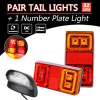 2x 16 LED IP68 Anhängerleuchten Rückleuchten Schlusslicht Bremslicht Blinker PKW