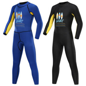SBART Kid 2mm Neoprene Diving Wetsuit Long Sleeve Surfing Swimwear UV Protection