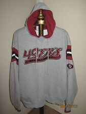 SF 49ers Adult HOODIE Large GRAY Lee Sport + 10 Mint NFL Cards