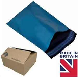 Metallic Blue Colour Mailing Bags