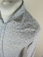 Mens Ted Baker Floral Paisley Shirt White Size 2 Small 36 To 38 Chest