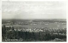 Sweden Sundvall panorama photo postcard