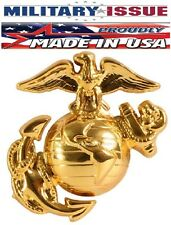 Military Issue USMC Marine Brass Insignia Cap Pin Made In The U.S.A. Rothco 2754