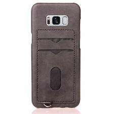 Slim Leather Case Card Holder Back Cover For Samsung Galaxy S7 Edge S8 Plus R