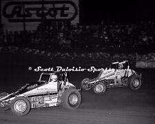 1980's Bob East and Steve Kinser Ascot Cra Sprint Car 8 x 10 Photo