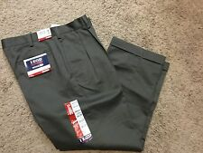 NWT IZOD American Chino Classic-Fit Wrinkle-Free Khaki Double Pleat Pant 40X30