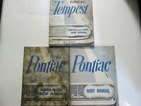 1961 GM Pontiac TEMPEST Service Repair Shop Manual 3 Volume Set Factory OEM Used