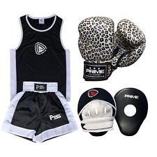 Kids SET 3 Pcs Boxing Uniform + boxing Gloves 1016 + Focus Pad 1102 (SET-15)