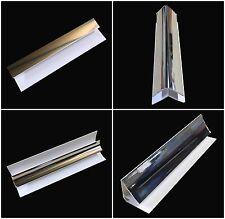 Silver 5mm Shower Wall Panel Trims 2.6m Bathroom Cladding PVC Wall Panels Chrome