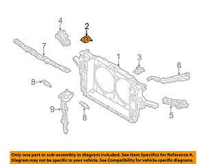 Infiniti NISSAN OEM M56 Radiator Core Support-Lock Bracket Right 625E41MA0A