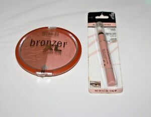 Milani Bronzer XL All Over Glow #04 + Shadow Eyez Eyeshadow #10 Lot Of 2 New