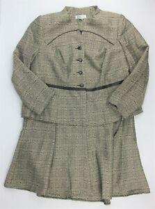 NWT $220 Danillo-Stefani Womens Plus Size 18W Textured Jacket 2-Piece Skirt Suit
