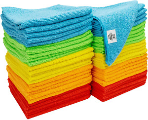 Micro Fiber Soft Cloth Towels Set for Auto Car Detailing Cleaning Washing 50 Pcs