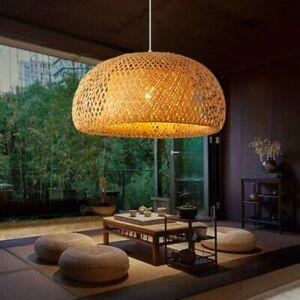 Modern Light Shade Rattan Wicker Basket Ceiling Pendant Living Room Lighting