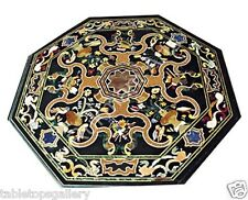 3'x3' Marble Dining Corner Table Top Scgaliola Fine Art Inlay Marquetry  H1632