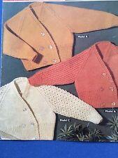 "Knitting Pattern Bambino Bambina Ragazzo Cardigan DK 12-18 LAV 22"" vintage"