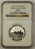 2012 Canada Silver $20 Coin Farewell to the Penny NGC SP-69