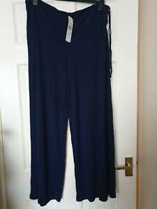 Lauren by Ralph Lauren jersey culottes Navy, size XL, BNWT