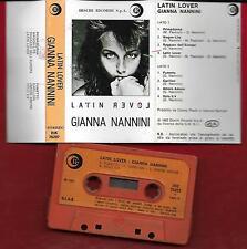 Gianna Nannini Latin Lover Mc Tape Cassette Dischi Ricordi Spa