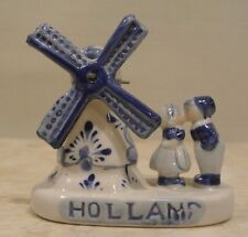 Delft Blue from Holland Windmill with Kissing Couple