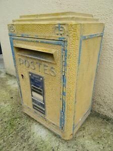 boite aux lettres ancienne LA POSTE DEJOIE 1961 french mail box art populaire