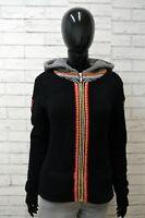 NAPAPIJRI Felpa Maglione con Zip Taglia M Cardigan Nero Donna Pullover Sweater